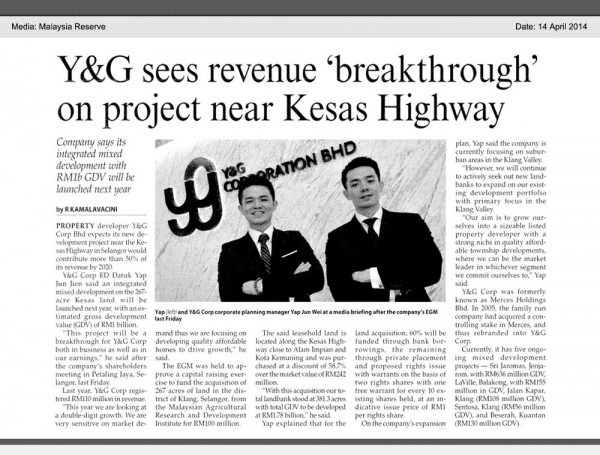 Y&G sees revenue